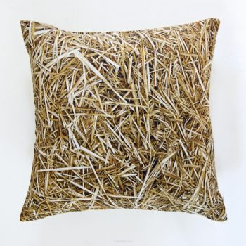 , STROH KISSEN - big straw cushion 40x40 350x350