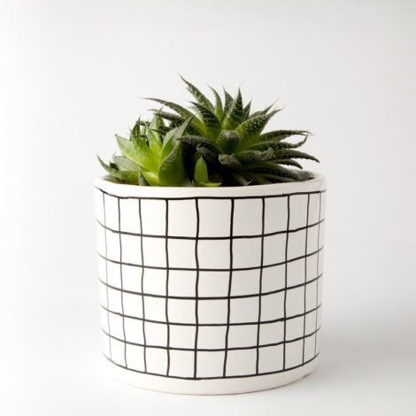 , LARGE FLOWER POT | CHECKED - 304 677304241 470x470