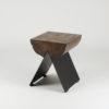 tische, hocker, mobel, wohnen, hochzeitsgeschenke, 1/2 HOCKER - black smoked 100x100