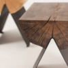 tables, stools, furniture, wedding-gifts, interior-design, 1/2 SIDE TABLE - black smoked detail 2 100x100