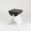 tische, hocker, mobel, wohnen, hochzeitsgeschenke, 1/2 HOCKER - white black 100x100