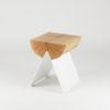 tische, hocker, mobel, wohnen, hochzeitsgeschenke, 1/2 HOCKER - white natural 100x100