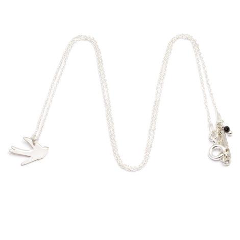 , CHAIN SWALLOW | SILVER - ańcuszek długi srebrny jaskółka 470x470