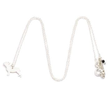 pendants, jewellery, CHAIN FRENCH BULLDOG | SILVER - ańcuszek srebrny buldog 350x350