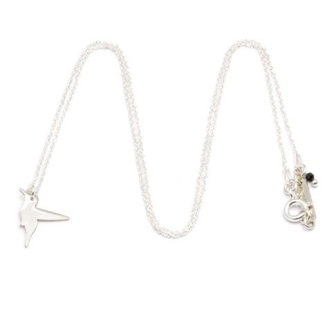 , CHAIN HUMMINGBIRD | SILVER - ańcuszek srebrny koliber 1 470x470