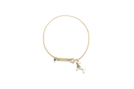 jewellery, braclets, BRACELET FRENCH BULLDOG | GOLD-PLATED - 7 2 470x313
