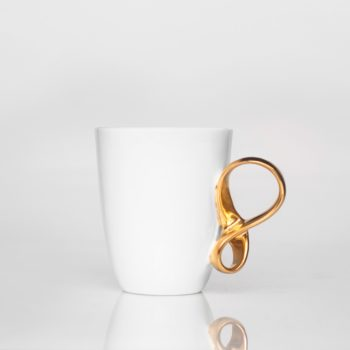 , SMALL MOBIUS CUP - WHITE WITH GOLD - 1 mobius zloty 350x350