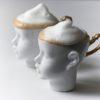 tassen, porzellan_und_keramik, wohnen, TASSE DOLL HEAD WEISS MIT GOLD - Doll2 100x100