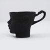 tassen, porzellan_und_keramik, wohnen, TASSE DOLL HEAD - SCHWARZ - dollhead black side 100x100