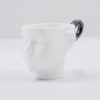 cups, porcelain_and_ceramics, interior-design, DOLL HEAD CUP - WHITE WITH PLATINUM - dollhead platinum front 100x100