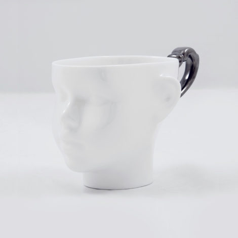 cups, porcelain_and_ceramics, interior-design, DOLL HEAD CUP - WHITE WITH PLATINUM - dollhead platinum front 470x470