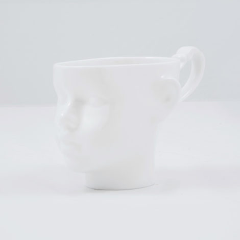 cups, porcelain_and_ceramics, interior-design, DOLL HEAD CUP - WHITE - dollhead white front 470x470