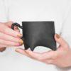 tassen, porzellan_und_keramik, wohnen, TASSE TRIPLE - SCHWARZ - duzy czarny rece 100x100