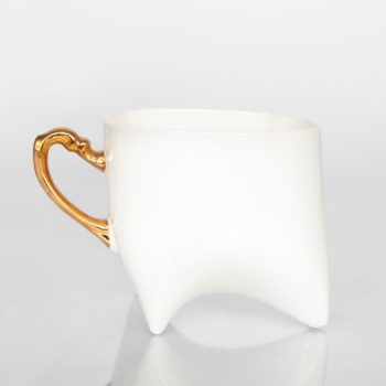 cups, porcelain_and_ceramics, interior-design, DOLL HEAD CUP - WHITE WITH PLATINUM - duzy zloty 350x350