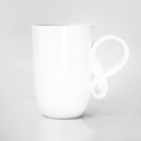tassen, porzellan_und_keramik, wohnen, GROßER MOBIUS BECHER - WEIß - fil biala 470x470