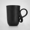 tassen, porzellan_und_keramik, wohnen, GROßER MOBIUS BECHER - SCHWARZ - fil czarna 100x100