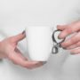 , SMALL MOBIUS CUP - WHITE WITH PLATINUM - mobius platyna 90x90