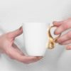 cups, porcelain_and_ceramics, interior-design, SMALL MOBIUS CUP - WHITE WITH GOLD - mobius zloty 100x100