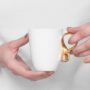 , SMALL MOBIUS CUP - WHITE WITH GOLD - mobius zloty 90x90
