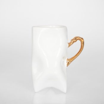 , TRIDENT CUP - WHITE WITH GOLD - zloty wysoki 350x350