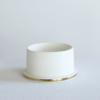 vasen, porzellan_und_keramik, wohnen, GROßE VASE FLY'S EYE | WEIß MIT GOLDENEM RAND - Krafla D BZ 2 667x1000 100x100
