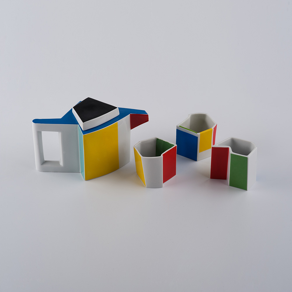 wohnen, porzellan_und_keramik, kannen, QUBUS II TEE-SET - modus Qubus II
