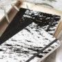 , NOTIZBUCH PAPER LOVE ECO MARBLE BLACK - MG 6903 90x90