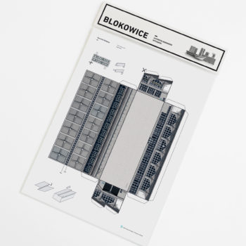 papierartikel, paper-cut-outs, BLOKOWICE | KATOWICE CENTRAL STATION - kitB dworzec zupagrafika 350x350