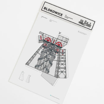 papierartikel, paper-cut-outs, BLOKOWICE | KOPALNIA KATOWICE - kitB kopalnia zupagrafika 350x350