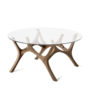 , MOOSE COFFEE TABLE | WALNUT - moose mama walnut fs 3700 90x90