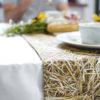 wohntextilien, wohnen, tischdecken, hochzeitsgeschenke, STROH TISCHLÄUFER - straw table runner 1 100x100