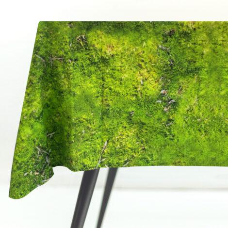 home-fabrics, wedding-gifts, tableclothes, interior-design, greenery-en, MOSS TABLECLOTH - tablecloth packshot M 470x470