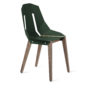 , DIAGO CHAIR | WALNUT - diago basic walnut dark green fs 3700 90x90