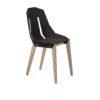chairs, furniture, interior-design, FELT DIAGO CHAIR - diago felt oak black fs 100x100