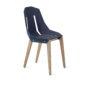 , FELT DIAGO STUHL EICHE - diago felt oak blue fs 90x90