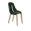 chairs, furniture, interior-design, FELT DIAGO CHAIR - diago felt oak dark green fs 100x100