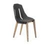 chairs, furniture, interior-design, FELT DIAGO CHAIR - diago felt oak dark grey fs 100x100