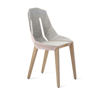 chairs, furniture, interior-design, LEATHER DIAGO CHAIR - diago felt oak palepink NCS S1515 R fs 350x350