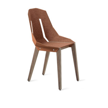 , FELT DIAGO CHAIR WALNUT - diago felt walnut dustyclay NCS S2050 Y60R fs 350x350