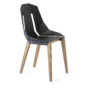 , LEATHER DIAGO CHAIR | OAK - diago leather oak blue grey fs 37001 90x90