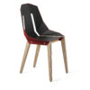 chairs, furniture, interior-design, LEATHER DIAGO CHAIR - diago leather oak coral red fs 37001 100x100