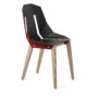 , LEATHER DIAGO CHAIR | OAK - diago leather oak coral red fs 37001 90x90
