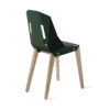 chairs, furniture, interior-design, LEATHER DIAGO CHAIR - diago leather oak dark green bs 3700 100x100