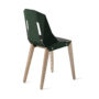 , LEATHER DIAGO CHAIR | OAK - diago leather oak dark green bs 3700 90x90