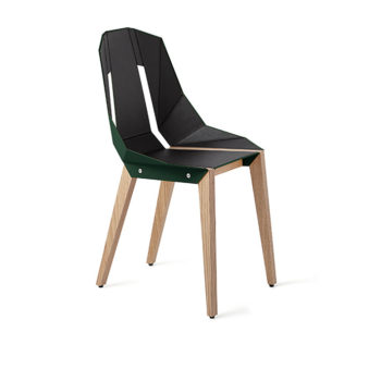 , LEATHER DIAGO CHAIR | OAK - diago leather oak dark green fs lowres 350x350