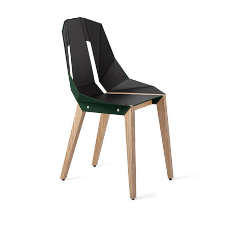 chairs, furniture, interior-design, LEATHER DIAGO CHAIR - diago leather oak dark green fs lowres 470x470