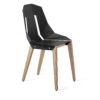 chairs, furniture, interior-design, LEATHER DIAGO CHAIR - diago leather oak deep black fs 3700 100x100