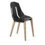 , LEATHER DIAGO CHAIR | OAK - diago leather oak deep black fs 3700 90x90