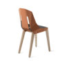 chairs, furniture, interior-design, LEATHER DIAGO CHAIR - diago leather oak dustyclay bs 100x100