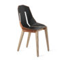 chairs, furniture, interior-design, LEATHER DIAGO CHAIR - diago leather oak dustyclay fs 100x100